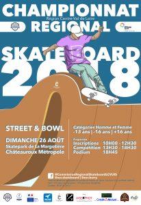 CHAMPIONNAT REGIONAL SKATEBOARD – 26 août 2018 Châteauroux